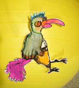 Bird Guy on the Ball