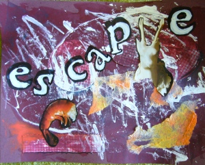 judy journal page - collage