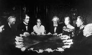 A Seance scene in the classic German silent film Dr Mabuse (1922), directed by Fritz Lang. Photograph: Bettmann/Corbis