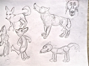 Sketchies of Wolfies