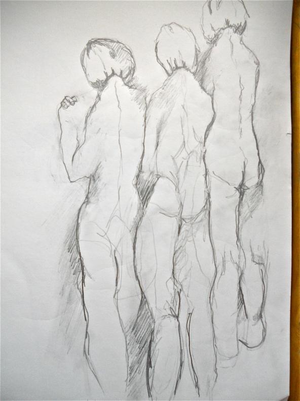 Longing, Pain, Pencil Sketch