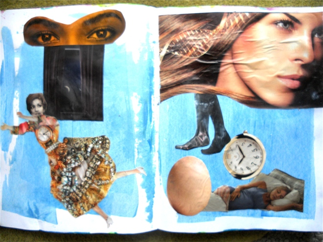 pasted magazine pictures