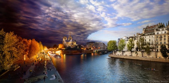Pont de la Tournelle, Paris, Day to Night, 2013. Courtesy of Stephen Wilkes