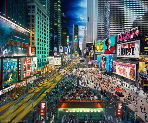 Times Square, NYC, Day to Night, 2010. Courtesy of Stephen Wilkes