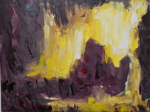 9 x 12 Acrylic, Painting Hope