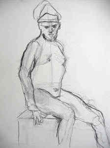 Charcoal sketch, 20 minute pose