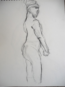 Charcoal sketch, 10 minute pose