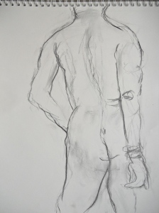 Charcoal, 10 minute pose