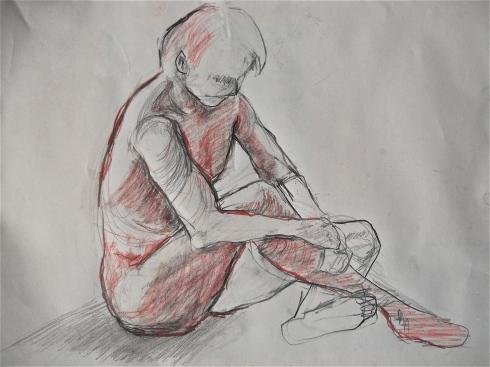 Graphite pencil sketch
